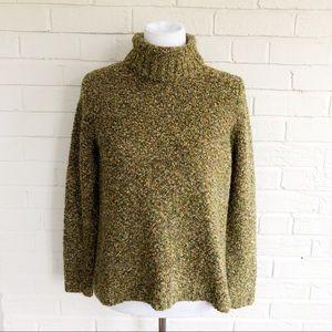 Fashion Bug brown multicolored turtleneck sweater